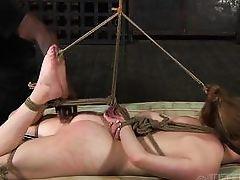 tied up and kinky pleasured