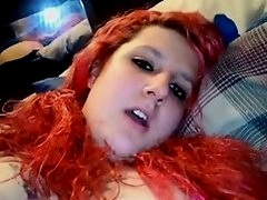 Redhead pigtails play with pussy with a dildo - negrofloripa