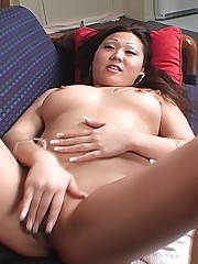 Asian ass gets slam fucked hard doggie style