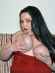 This busty babe has more tits than any guy can handle