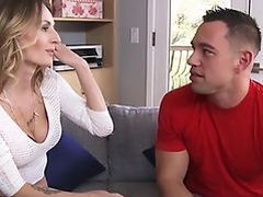 Sex On A Couch With Horny Blonde