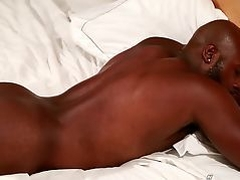 Next Door Ebony Darian And Jerking Off His Fat Black Cock