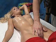 Erotic massage culminates in hardcore sex