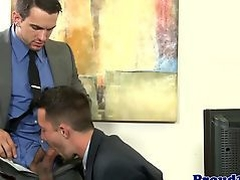 Mature office stud bent over doggystyle