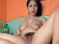 busty hairy latina on webcam