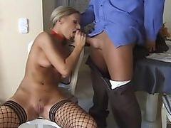 Christel Starr gorgeous blonde in fishnet stockings