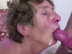 Young Boy Seduce Granny to Get First Fuck and Fuck her Anal
