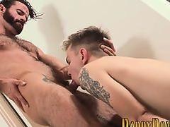 Twink sucks stepdads cock
