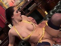Brunette wife Karia Kare loving strangers cock