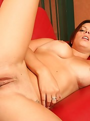 A big boobed stepmom riding her stepsons hard cock