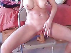 homemade wife alone dildo-ride