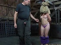 ass fucked with a bag on her head