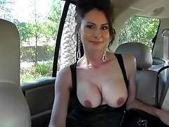 fucking sexy brunette milf revealing her nice boobs.
