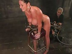 busty milf tied up in water bondage movie