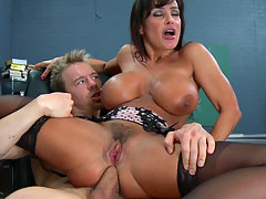 Outstanding foursome with Lisa Ann!