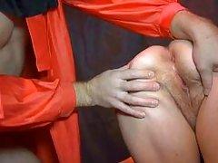blonde ganny gets punished hard