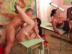 amazing milfs together in an epic gangbang