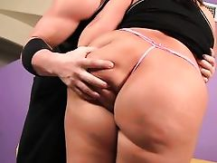 blond fatty gets hand down her underclothes