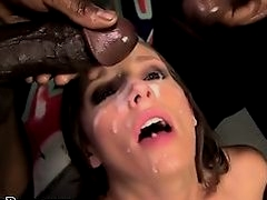 Black cocks bukkake brunette hoe